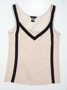 Grand Prix Silk Cotton Tank with Stripes