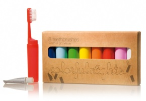 colorfulnights 8 toothbrushes to go