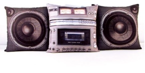 The-Retro-Styled-Boombox-And-Sub-Woofer-Pillow-Set-