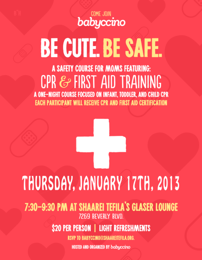 cpr + first aid training for moms