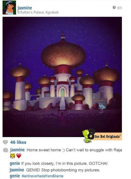 disney princesses on instagram