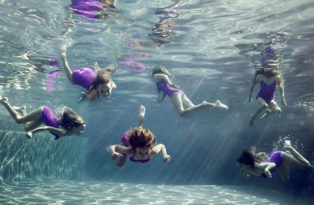 alix martinez kids in water